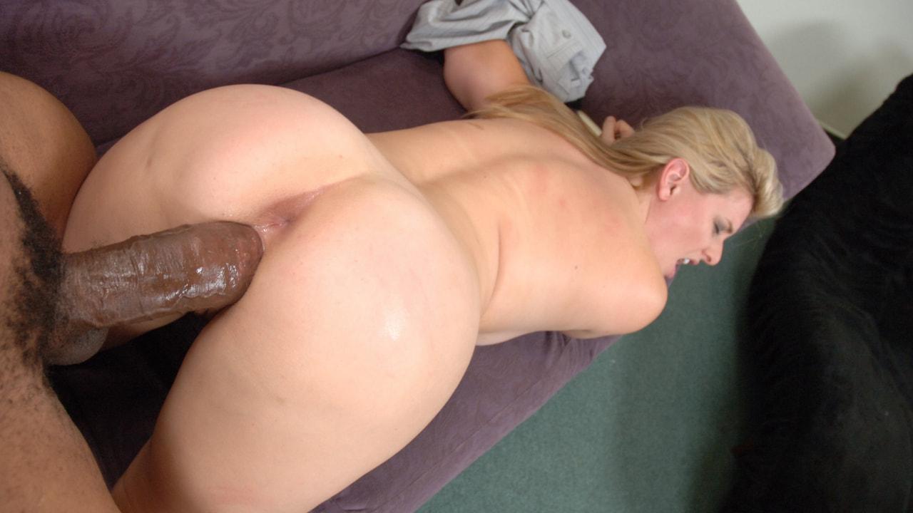 A big black cock fucking the butt of a hot ebony