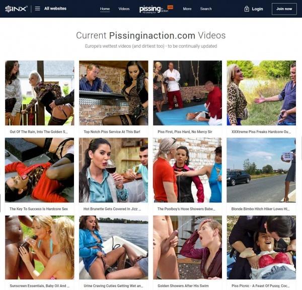 PissingInAction.net - Tainster.com - SinX.com - SITERIP