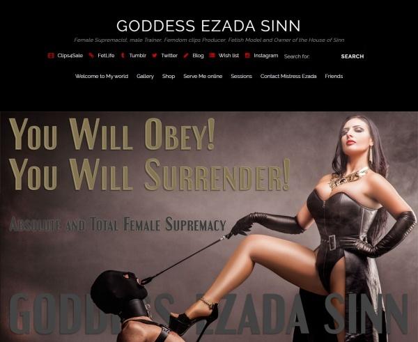 MistressEzada.com - Mistress Ezada Sinn (Clips4Sale) - SITERIP